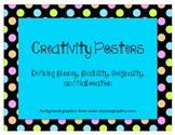 Creativity Posters: Defining fluency, flexibility, originality, and elaboration