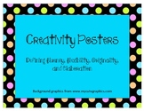 Creativity Posters: Defining fluency, flexibility, origina