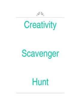 Creativity Scavenger Hunt