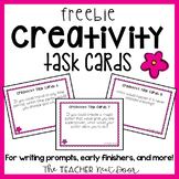 Creativity Task Cards Freebie for 3rd - 6th Grade