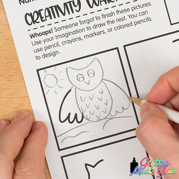 Creativity Warm-Up: Free Drawing Exercise Worksheets for Distance Learning