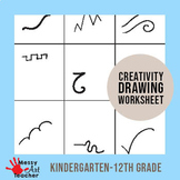 Creativity Worksheet for K-12th grades