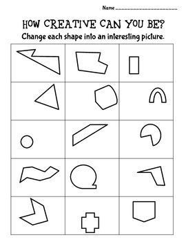 Creativity Worksheets