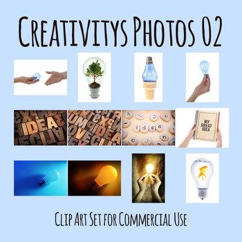 Creativity and Ideas Photos 02 / Photograph Clip Art Set for Commercial use