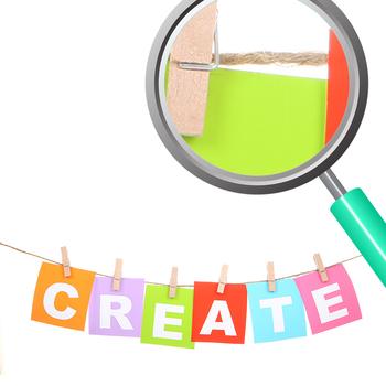 Creativity and Ideas Photos / Photograph Clip Art Set for Commercial use