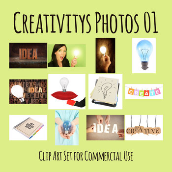Creativity and Ideas Photos / Photograph Clip Art Set for Commercial use