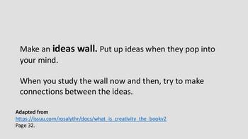 Creativity exercises