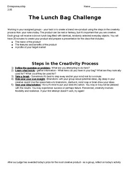 """Creativity in Business - """"Lunch Bag Challenge"""""""