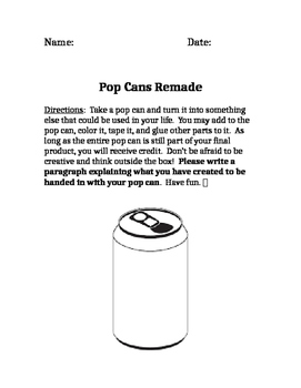 Creativity with Pop Cans