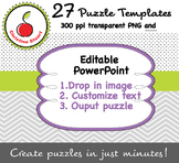 Creator's / Seller's Toolkit - 27 Editable Puzzle Template