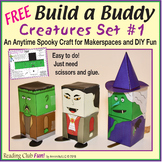 FREE – Creature Buddies - 3 Models (Frankenstein, Witch, D