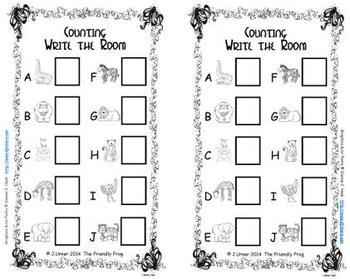 Creature Counting, Addition & Subtraction: Write the Room