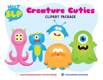 Creature Cuties Monster Clipart Package