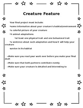 Creature Feature (an adaptation project)