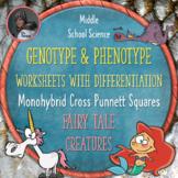 Creature Genotype and Phenotype Punnett Square Worksheets