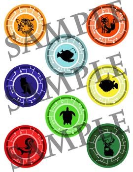 image about Wild Kratts Creature Power Discs Printable named Creature Ability discs (2)