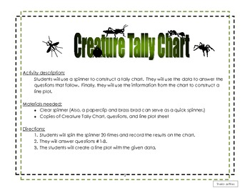 Creature Tally and Line Plot