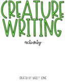 Creature Writing Activity