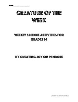 Creature of the Week Grades 1-2