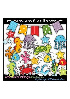 Creatures from the Sea Clipart Collection
