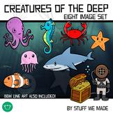 Ocean Animals Creatures of the Deep Pack!
