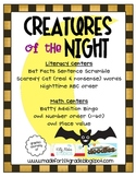 Creatures of the Night {Math & Literacy Centers}