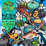 New Zealand Creatures of the Sea Clip Art