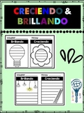 Creciendo & Brillando notas para reflexión
