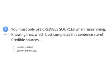 Credible Sources - How Can You Tell?