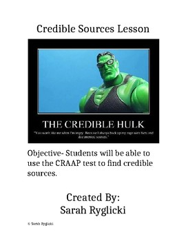 Credible Sources Lesson