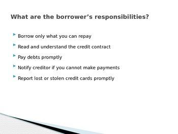 Credit Basics Power Point