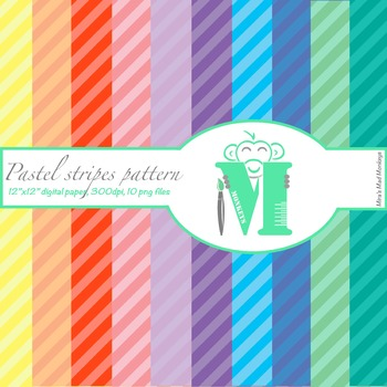 Pastel Stripes Digital Paper