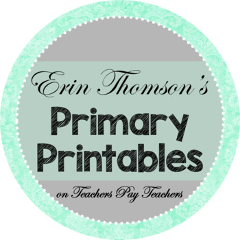 Credit Button ~ Erin Thomson's Primary Printables
