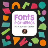 Credit Button for Fonts or Clipart Created by Courtney Kei