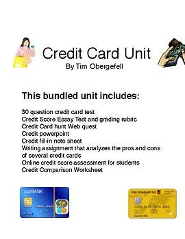 Credit Card Bundled Unit