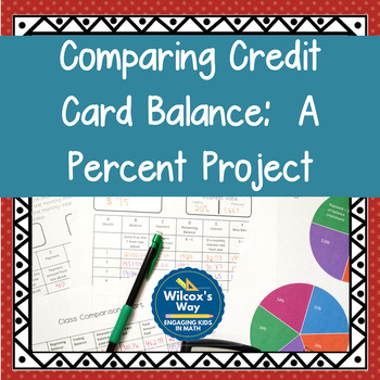 Credit Card Different Payments Percent Math Project