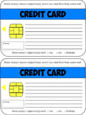 Credit Card Exit Ticket