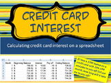 Credit Card Interest:  Calculating Interest on a Spreadsheet
