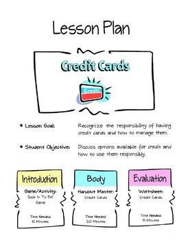 Credit Card Lesson