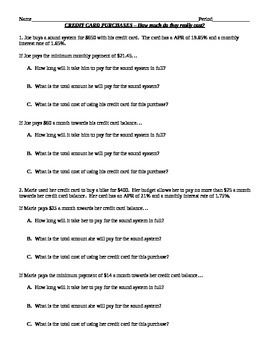 Credit Card Payoff Worksheet Worksheets for all | Download and ...