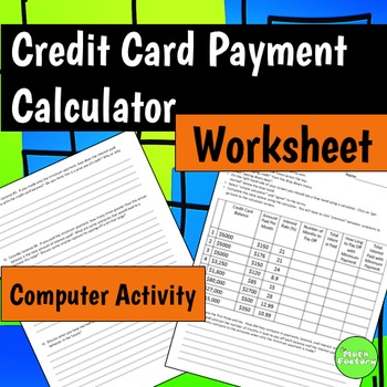 Credit Card Payment Calculator By The Math Factory  Teachers Pay
