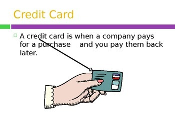 Credit Card PowerPoint- High School Special Education