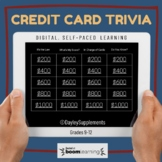Credit Card Trivia Interactive Boom Cards™ for Personal Finance