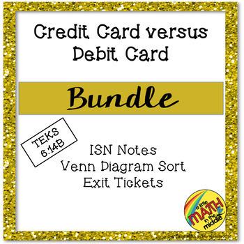 Credit Card versus Debit Card Bundle TEKS 6.14B