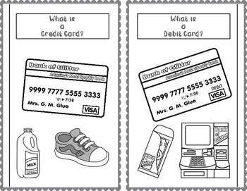 Credit Card versus Debit Card ISN Notes TEKS 6.14B
