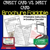 Credit Card vs. Debit Card Activity Foldable, Personal Fin