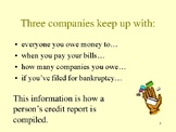 Credit ~ Credit PowerPoint ~ Credit Lecture Aid by Kim Townsel
