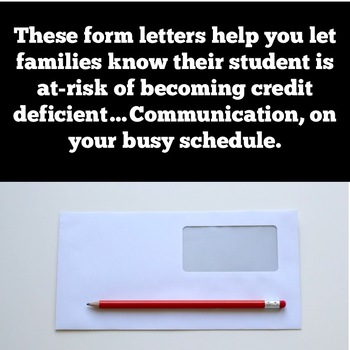 Credit Deficiency Parent Form Letters
