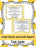 Credit History and Credit Reports Task Cards