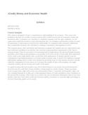 Credit, Money and Economic Health
